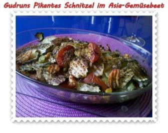 Fleisch: Pikantes Schnitzel mit Asia-Gemüse - Rezept