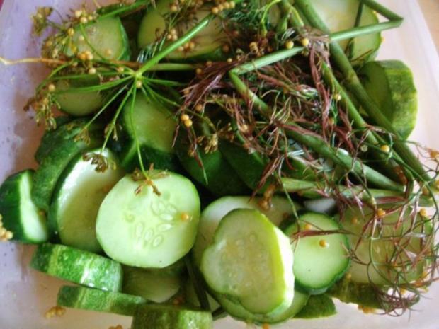 Einmachen - Schnelle Gewürzgurken in Scheiben - Rezept - Bild Nr. 9