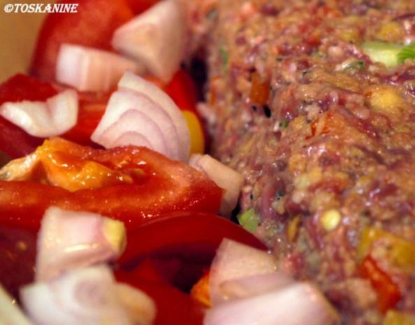 Hackbraten mit Paprika-Gemüse-Sauce - Rezept - Bild Nr. 8