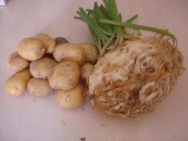 Paprika-Gulasch mit Sellerie-Kartoffelstampf - Rezept - Bild Nr. 4