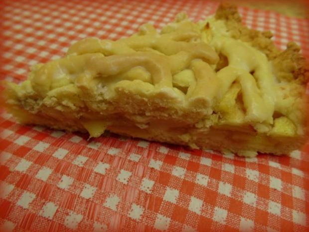 Gedeckter flacher Apfelkuchen - Rezept - Bild Nr. 3