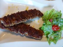 Marinierte Schweinfilet-Bacon-Spieße mit Gartensalat - Rezept