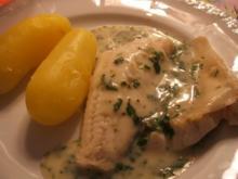 Fisch: Zander gedünstet mit Kräutersoße und Neuen Kartoffeln - Rezept