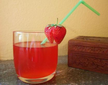Erdbeersaft - Rezept