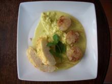 Jakobsmuscheln auf Porree- Curry - Sauce - Rezept