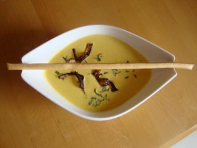 feines Schweizer Selleriesüppchen mit Gruyere - Rezept