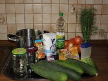 Senfgurken - Rezept