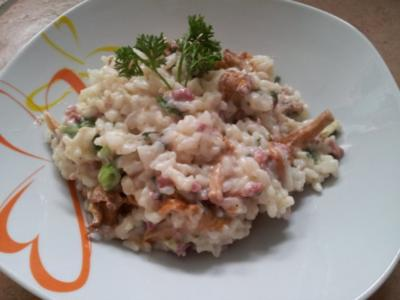 Pfifferling - Frischkäse - Risotto - Rezept
