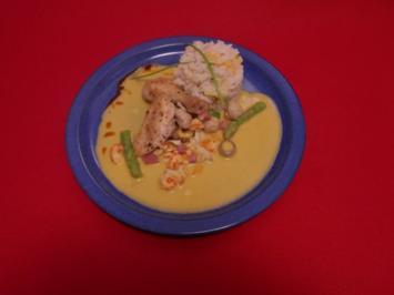 Rezept: Edles Bremer Stubenkükenragout mit Spitzmorcheln und Flusskrebsen an Reis