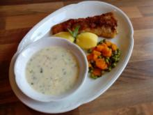 """Knusper- Fischfilet mit Kräuter-Speck-Soße"" - Rezept"