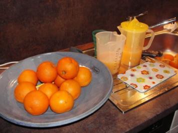 Rezept: Michis Orangengelee mit Walnusslikör