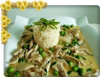 Hähnchen-Frikassee mit Reis - Rezept