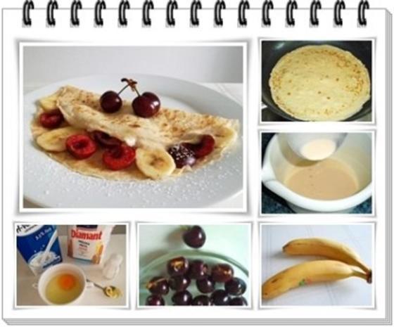 Crêpes mit Kirschen und Banane - Rezept - Bild Nr. 12