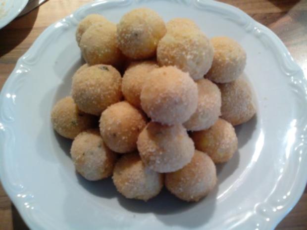 """""""Pfannenkroketten mit Curry-Grillfleisch"""" - Rezept - Bild Nr. 4"""