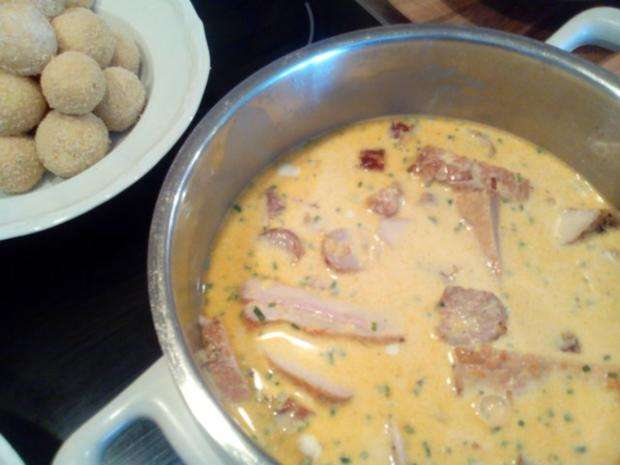 """""""Pfannenkroketten mit Curry-Grillfleisch"""" - Rezept - Bild Nr. 9"""
