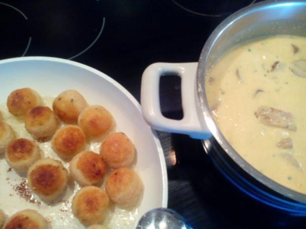 """""""Pfannenkroketten mit Curry-Grillfleisch"""" - Rezept - Bild Nr. 10"""
