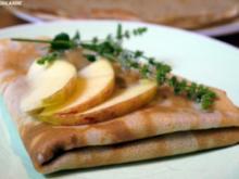 Tonka-Crepes mit Apfel-Karamell-Minz-Füllung - Rezept