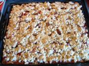 Pflaumenkuchen mit Pudding und Streusel - Rezept