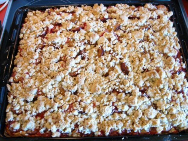 Pflaumenkuchen Mit Pudding Und Streusel Rezept Kochbarde