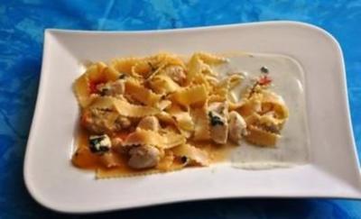 Kochen:Hähnchenbrust mit Gorgonzolasoße - Rezept