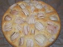 Versunkener Apfelkuchen mit Kokos - Rezept