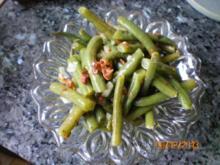 Salat:Bohnensalat mit Bauchspeck - Rezept