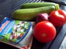 schnelle Gemüsepfanne mit Feta - Rezept