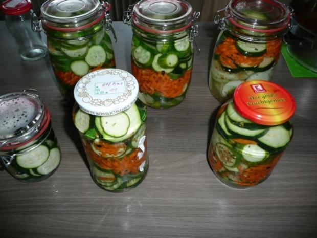 einkochen gurken zucchini karotten rezept. Black Bedroom Furniture Sets. Home Design Ideas
