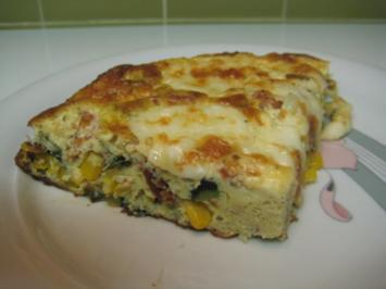 Zucchini-Mais-Omelette - Rezept