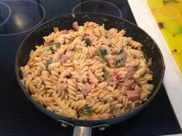 Zucchini Pfanne mit Bauchspeck ( überbacken ) - Rezept - Bild Nr. 3
