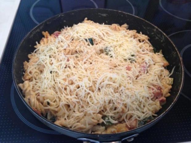 Zucchini Pfanne mit Bauchspeck ( überbacken ) - Rezept - Bild Nr. 4