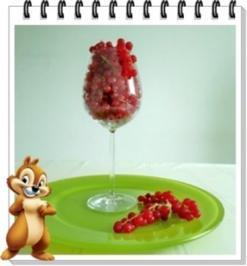 Rezept: Erfrischend &  vitaminreich Johannisbeeren Shake  zum auslöffeln