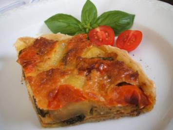 Pikantes Backen: Quiche aus Blätterteig mit Zucchini - Rezept