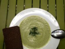 Zucchini-Dill-Kerbel Suppe - Rezept
