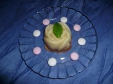 Eis - Bananen-Eis auf Schoko-Minz-Eis - Rezept