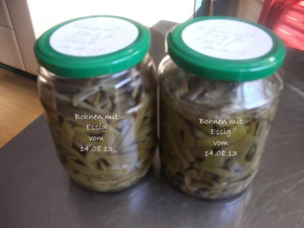 Bohnen für Bohnensalat - Rezept
