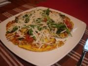 Low Carb Pfannkuchen mit Gemüse - Rezept