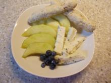 Melone süß-sauer mit Gorgonzola und Walnussgrissini - Rezept