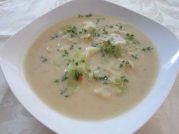 Kartoffel -Kohlsuppe mit Kresse - Rezept