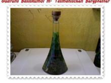 Öl: Basilikumöl mit Tasmanischen Bergpfeffer, Chili und Knobi - Rezept