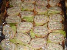 Käse-Schinken Häppchen - Rezept
