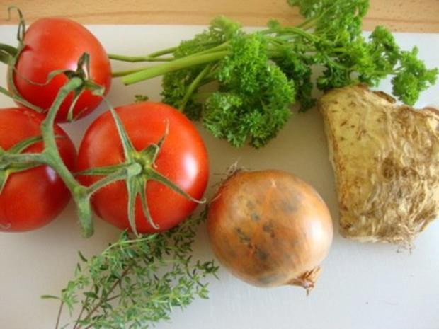 klare Tomatensuppe mit Reiseinlage - Rezept - Bild Nr. 2