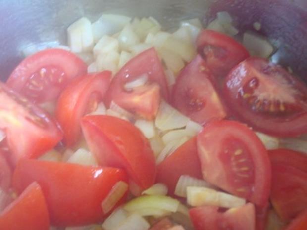 klare Tomatensuppe mit Reiseinlage - Rezept - Bild Nr. 6