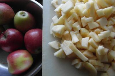 Backen : Apfel-Marzipan-Muffins - Rezept