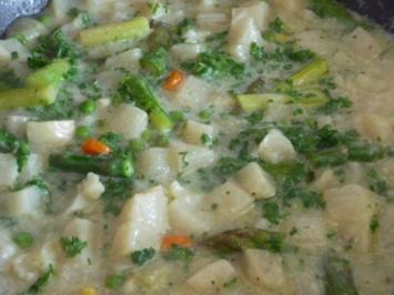 Rezept: Suppen & Eintöpfe :  Kohlrabi – Spargel – Suppe