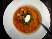 schnelle Zucchini-Tomaten-Suppe - Rezept