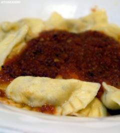 Rezept: Ravioli mit Ricotta-Pfifferlingsfüllung