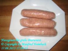 Wurst – Manfreds hausmacher grobe Bratwurst - Rezept