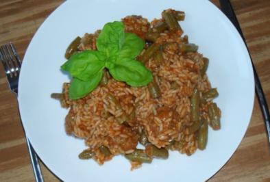 Heedfelder Bohnen - Reis - Pfännchen - Rezept