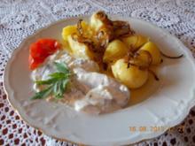 Schmandmatjes mit Pellkartoffeln - Rezept